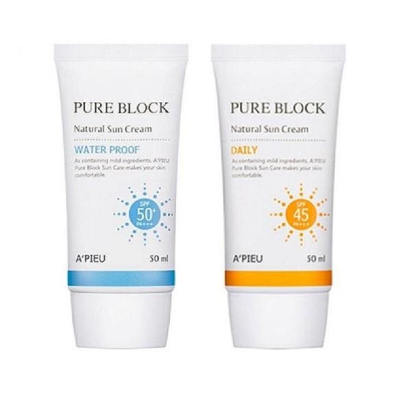 A'Pieu Pure Block Natural Sun Cream Daily.