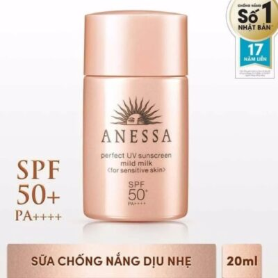 Kem chống nắng Anessa Perfect UV Sunscreen Skincare Mild Milk For Sensitive Skin