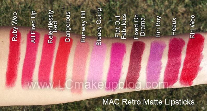 Một số màu son môi MAC dòng Retro Matte tiêu biểu