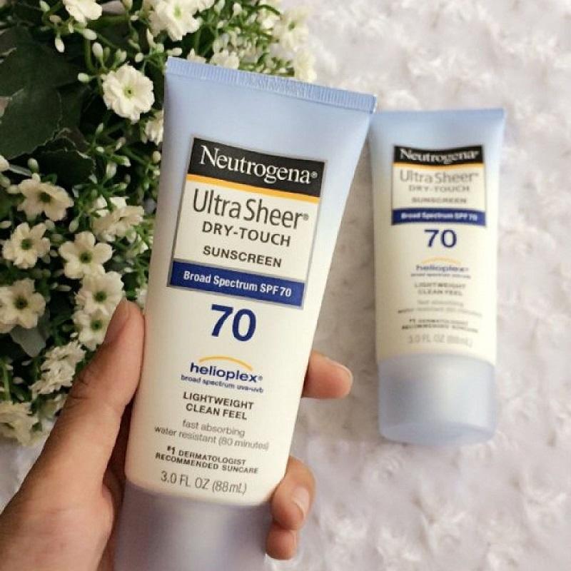 Neutrogena Ultra Sheer Dry – Touch – sản phẩm kem chống nắng cho mặt và body