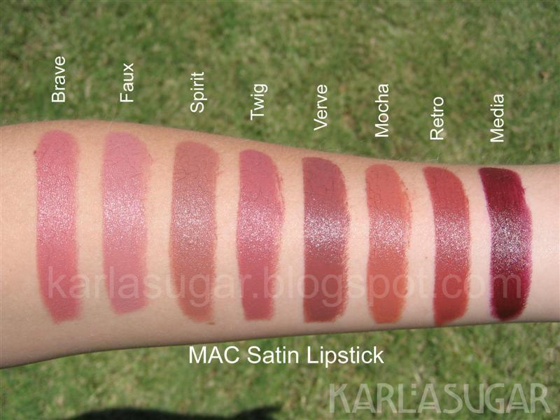 Son môi MAC Satin với 31 màu đa dạng