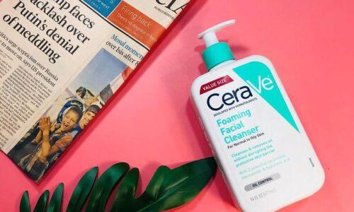 Review sữa rửa mặt CeraVe Foaming Facial Cleanser - dành cho da nhờn