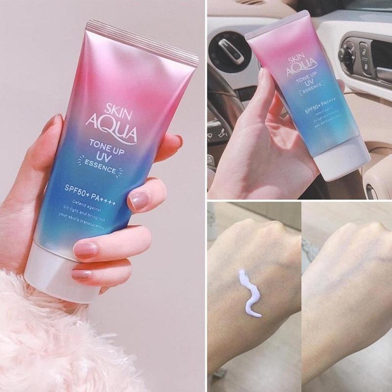 Kem chống nắng Sunplay Skin Aqua Tone Up UV Essence