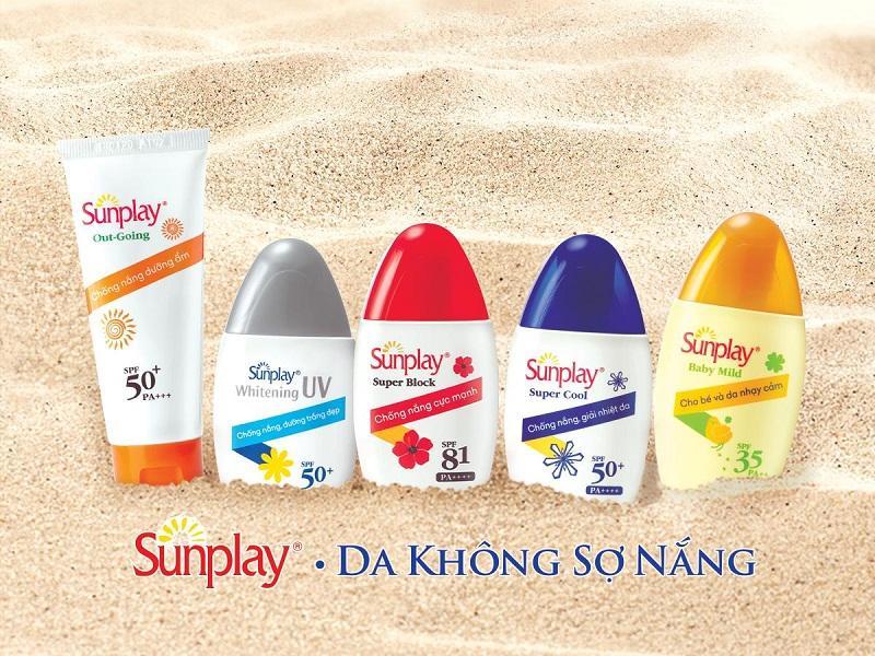 Lựa chọn kem chống nắng hiệu Sunplay không lo cháy nắng
