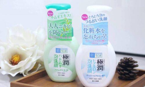 Sữa rửa mặt cho da nhờn Hada Labo Gokujyun Hatomugi Foaming Cleanser