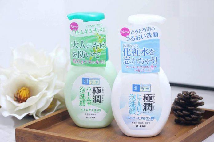 Sữa rửa mặt Hada Labo Gokujyun Hatomugi Foaming Cleanser