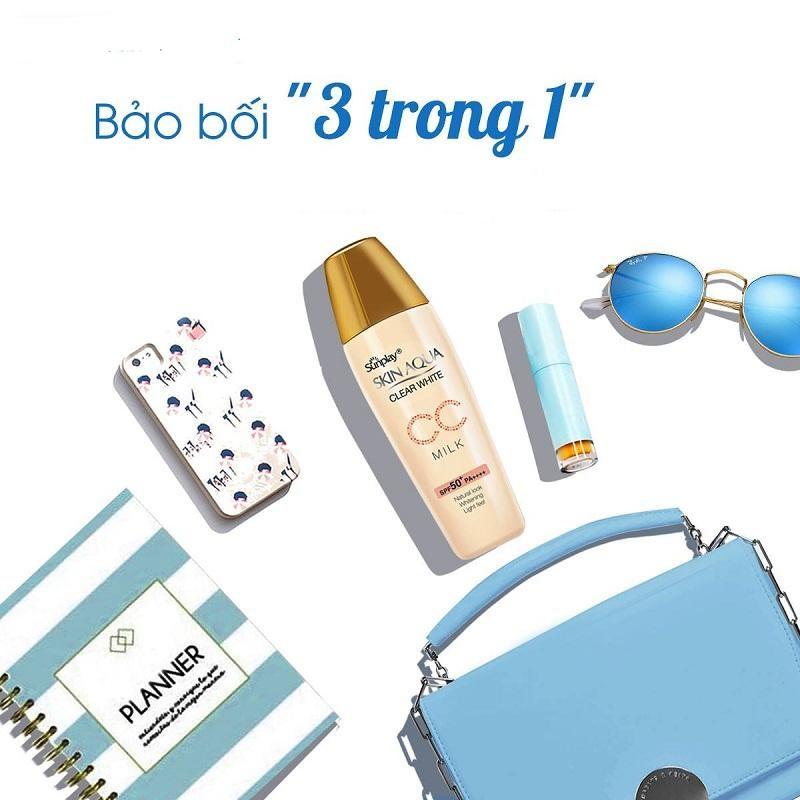 Skin Aqua Clear White CC Milk SPF50+ bảo bối chống nắng thần kỳ