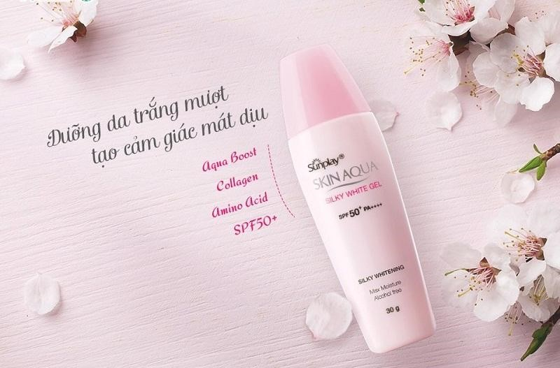 Skin Aqua Silky White Gel SPF50+