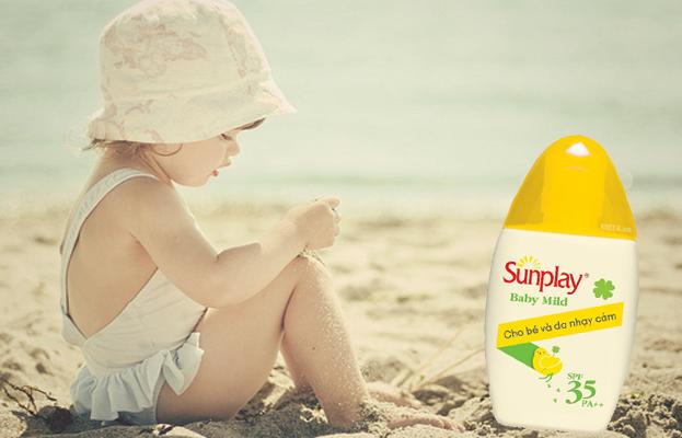 Sunplay Baby Mild SPF 35 tốt cho da nhạy cảm
