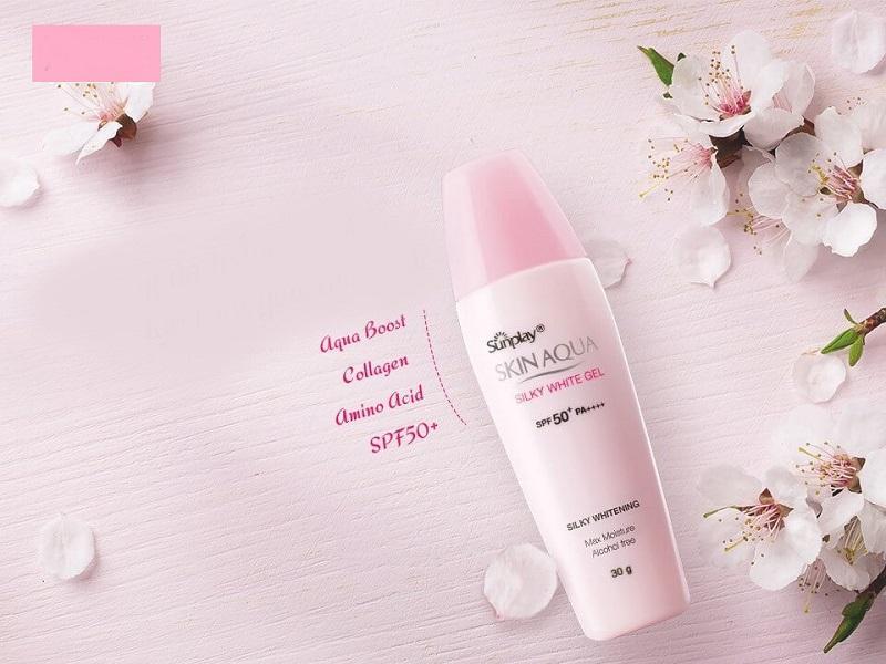 Sunplay Skin Aqua Silky White Gel SPF 50 giúp bổ sung nước