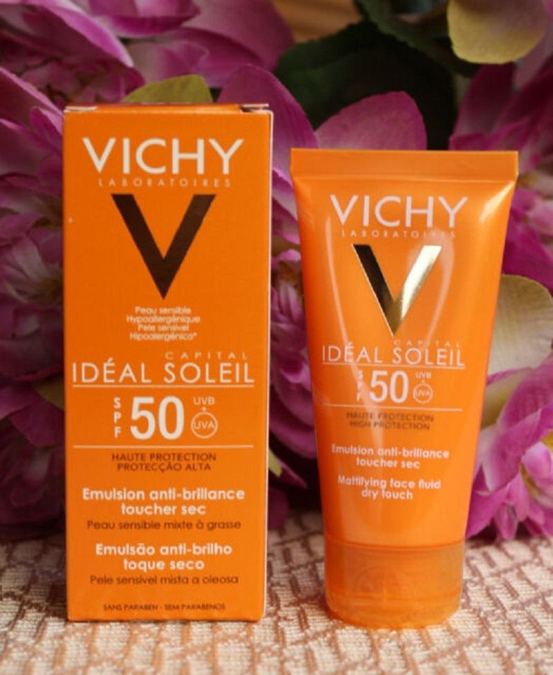 Vichy Ideal Soleil Mattifying Face Fluid Dry Touch dễ làm kích ứng da