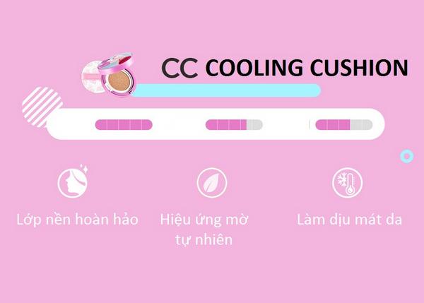 Công dụng tuyệt vời của CC Cooling Cushion