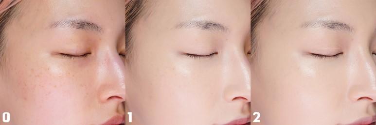Lớp nền mỏng mịn như da thật, thích hợp cho làn da ít khuyết điểm
