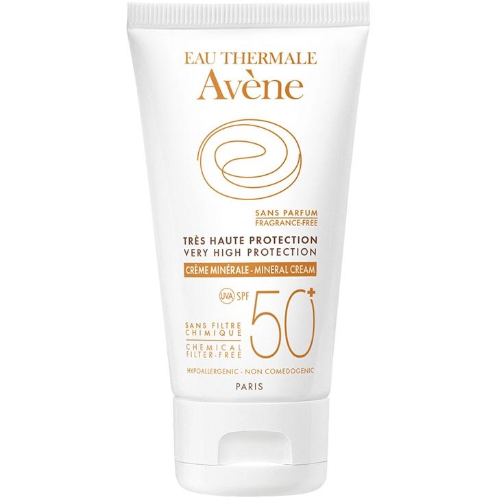 Avene Protection Mineral Lotion 50+ 100ml - Kem chống nắng vật lý không hương liệu SPF 50+ dành cho da nhạy cảm dễ bị kích ứng