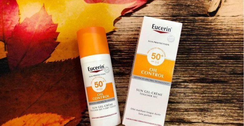 Sun Protection SPF50+ Sun Gel-Creme Oil Control Dry Touch 50ml - Eucerin có tác dụng giúp chống nắng, ngăn ngừa sự xâm hại của tia UVA đến da giúp da luôn được khỏe mạnh, trắng sáng.