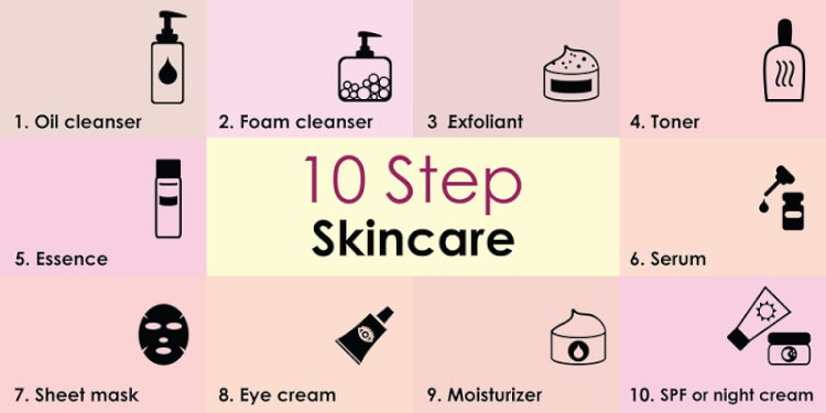 10 bước chăm sóc da chuẩn