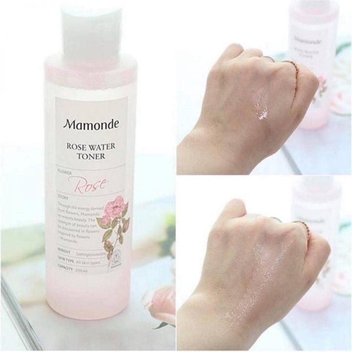 Nước hoa hồng được kết cấu dạng lỏng, thẩm thấu nhanh vào da