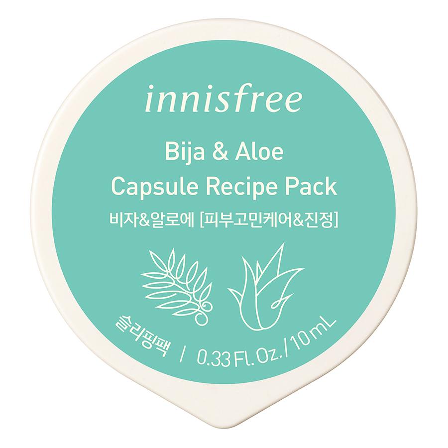 Mặt Nạ Ngủ Innisfree Capsule Recipe Pack Bija & Aloe