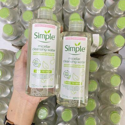 Nước tẩy trang Simple nào được dùng nhiều nhất? Hiệu quả ra sao? (Review 2021)
