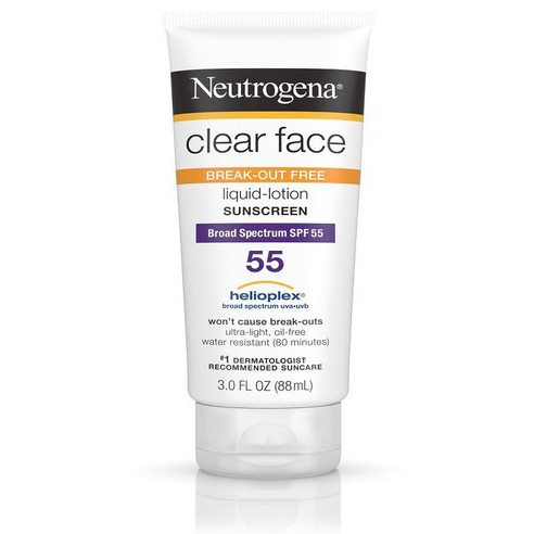 Kem chống nắng Neutrogena Clear Face BreakOut Free Liquid Lotion