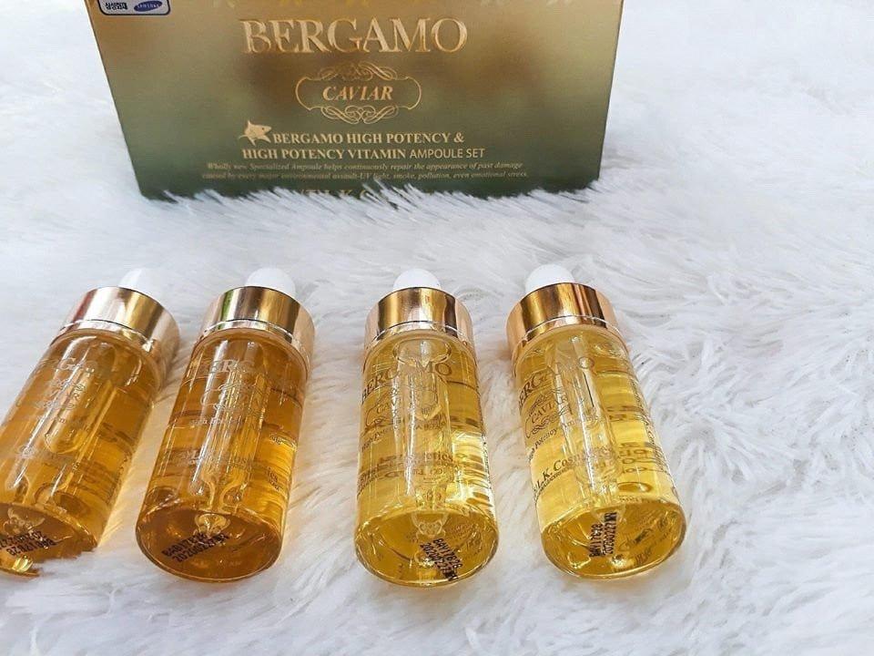 Serum Bergamo Luxury Gold Caviar (chai màu vàng đậm)