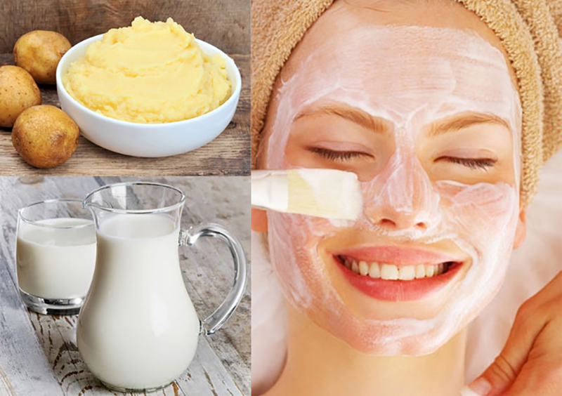 Mặt nạ dưỡng da từ sữa tươi và khoai tây
