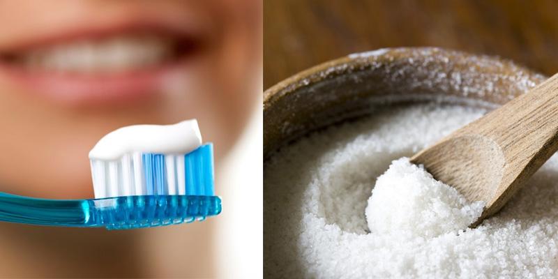 Trị mụn cám bằng kem đánh răng kết hợp với muối ăn