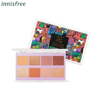 Phấn trang điểm mắt Innisfree Glam Mood Palette Green Holidays - Limited Edition