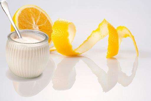 Tắm trắng bằng sữa chua và cam