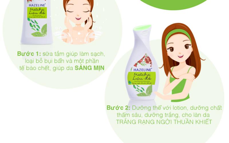 Cách sử dụng sữa tắm Hazeline