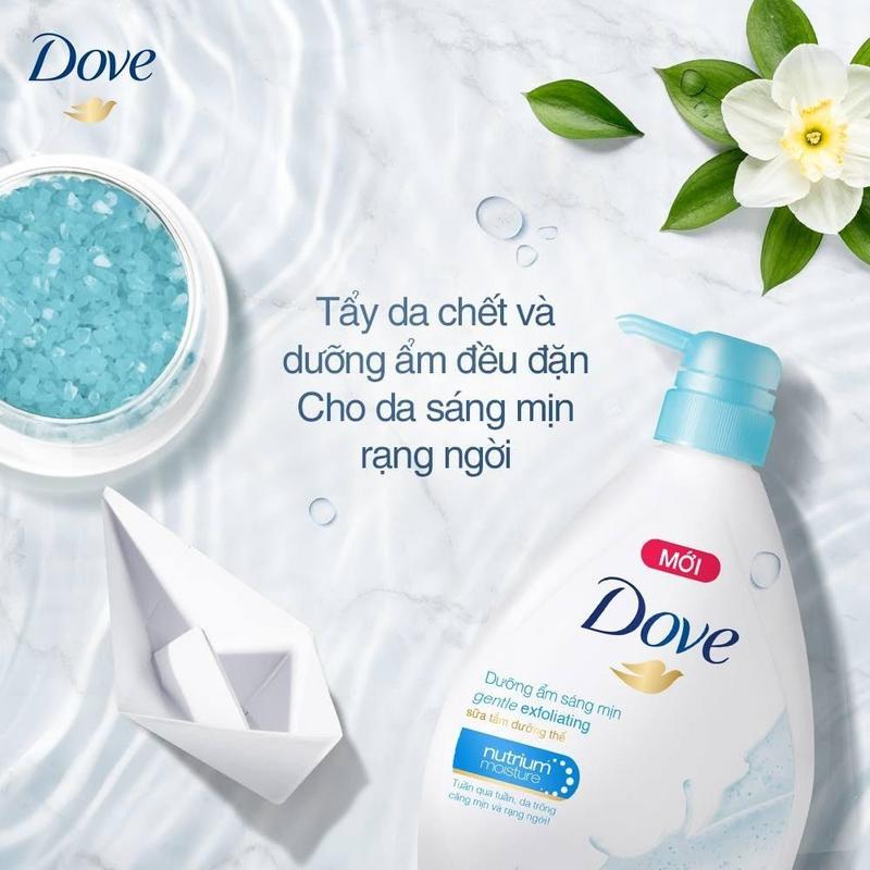 Sữa tắm Dove được nhiều người ưa chuộng