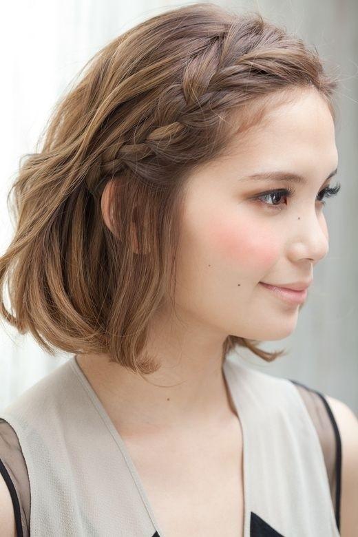 Dịu dàng nữ tính khi tết tóc mái