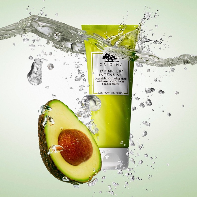 Mặt nạ - Origins Drink Up Intensive Overnight Hydrating Mask with Avocado & Swiss Glacier Water