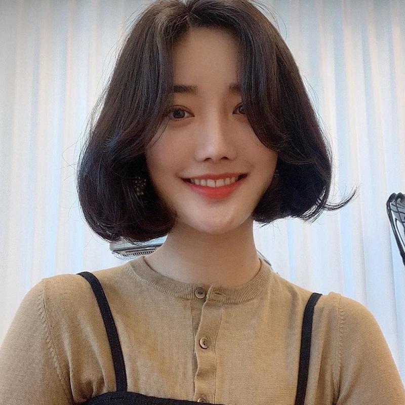 Tóc ngắn Hàn Quốc cụp phồng