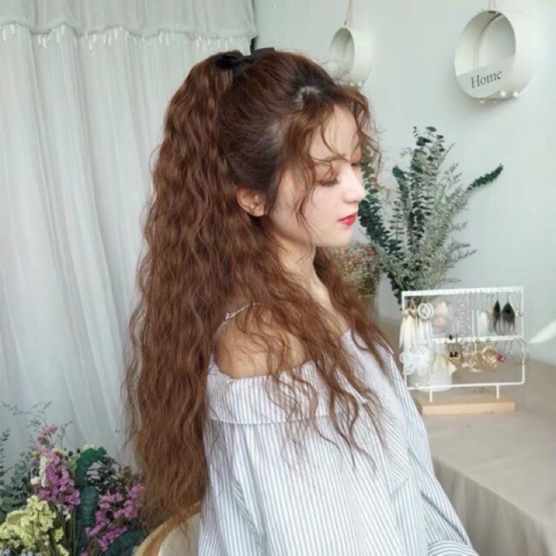 Tóc dài uốn xù đũa