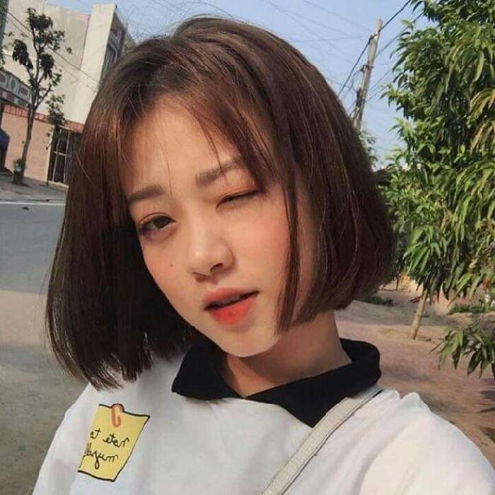 Tóc ngắn Hàn Quốc thẳng tự nhiên