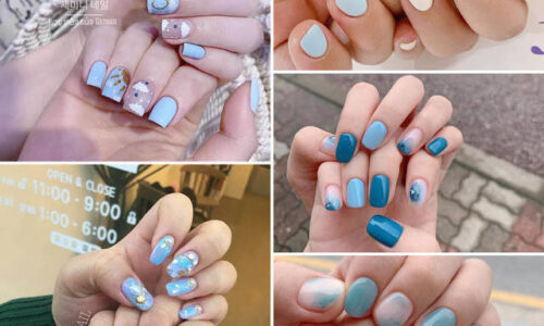5 kiểu nail với tông xanh phù hợp cho mọi phong cách các nàng.