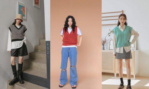 5 kiểu phối đồ với áo gile len chuẩn phong cách xứ Hàn