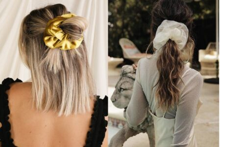 """Kiểu tóc đẹp với """"scrunchie oversized"""""""