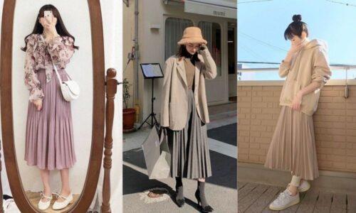 4 ý tưởng phối đồ với váy xếp ly dài
