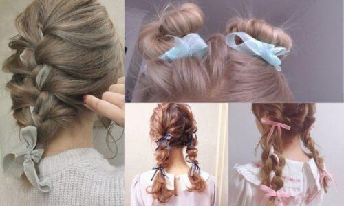 4 ý tưởng kiểu tóc với dây ruy băng cực hot