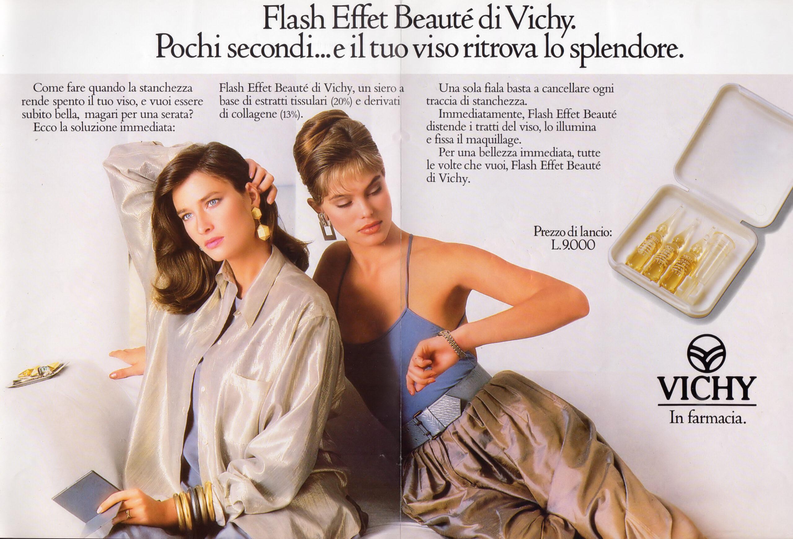 Người mẫu nổi tiếng Rosemary McGrotha trở thành gương mặt đại diện cho Vichy năm 1988