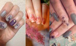 14 ý tưởng nail độc đáo với cánh hoa khô cho mùa hè