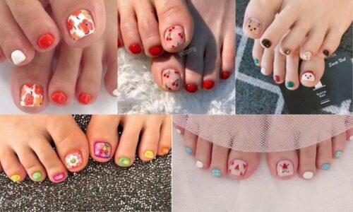 6 mẫu nail chân đẹp, đơn giản cho nàng thêm xinh