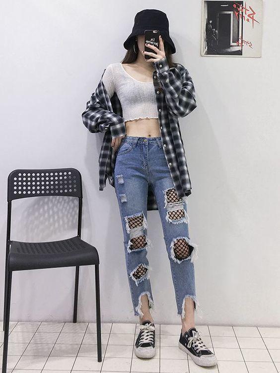 Jean dài rách