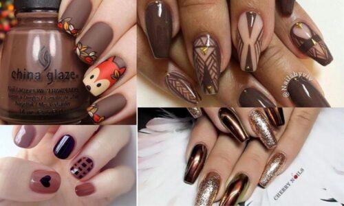 Top xu hướng mẫu nail với tông nâu cho đôi tay thêm xinh