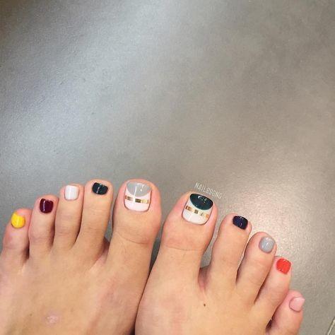 Nail móng chân dễ thương