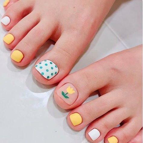 Nail móng chân dễ thương 10