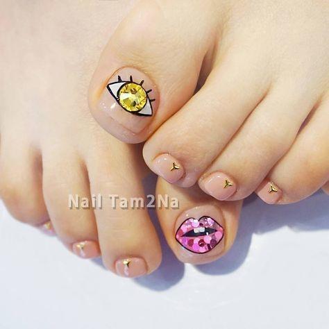 Nail móng chân dễ thương 12