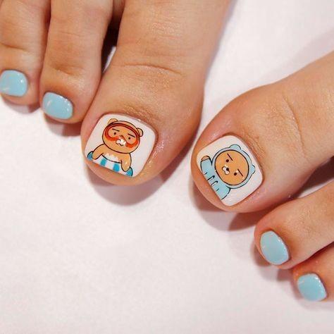 Nail móng chân dễ thương 16